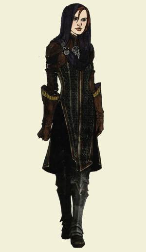Leliana concept art in The Art of Dragon Age: Inquisition