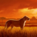 Lioness in the grass - lions icon