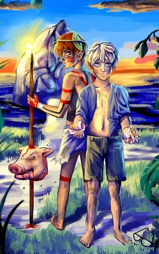 Lord of the Flies wallpaper with anime entitled Lord Of The Flies: Jack and Ralph