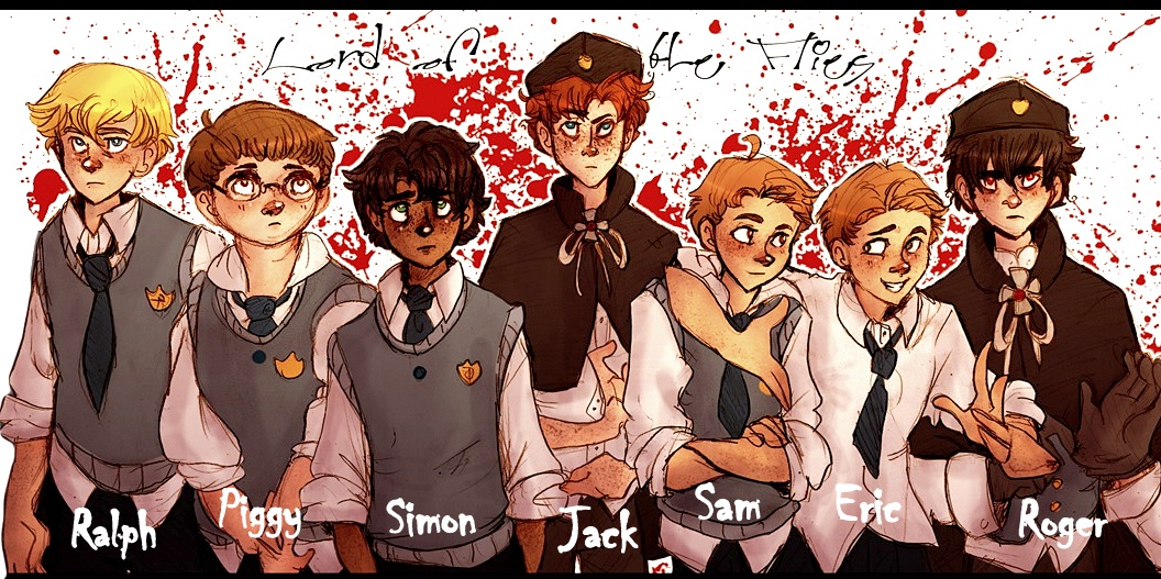 Lord Of The Flies - the boys, as they were described in the book