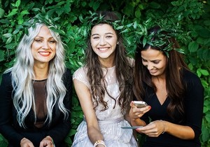 Lou, El and Sophia at Johannah and Dan's wedding