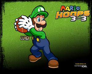 Luigi Mario Hoops 3-on-3 Background