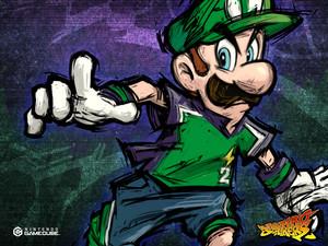Luigi Super Mario Strikers Background