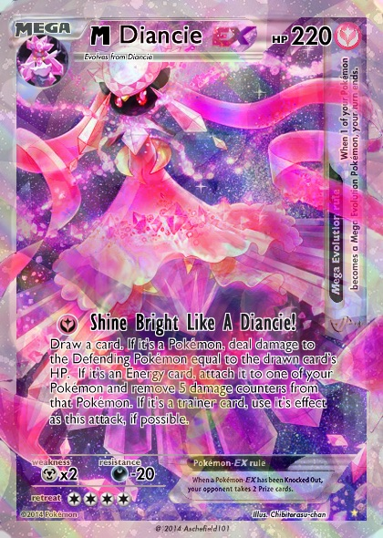 M Diancie full art card