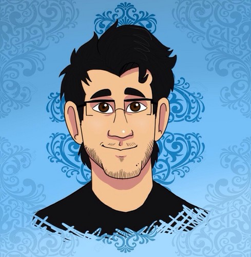 Markiplier karatasi la kupamba ukuta possibly with anime entitled Mark Fischbach