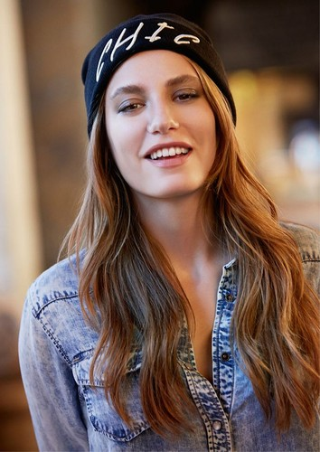 Serenay Sarikaya wallpaper possibly containing an outerwear and a portrait entitled Mavi Jeans