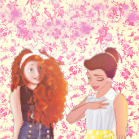 Merida and Belle retro