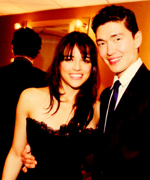 Michelle Rodriguez and Rick Yune