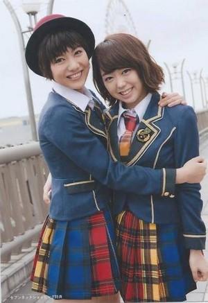Miyazawa Sae and Minegishi Minami, - Kibouteki Refrain