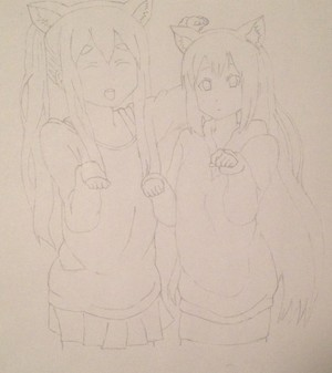 Mugi-chan y Azu-nyan