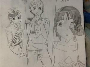Mugi,yui,and mio genderbend K-ON!