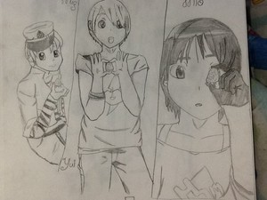 Mugi,yui,and mio genderbend K-ON!