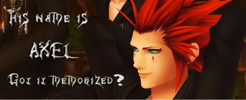 Kingdom Hearts wallpaper probably with a portrait entitled Names Axel got it memorized