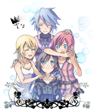 Namine, Aqua, Kairi, and Xion