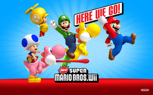 New Super Mario Bros. Wii Here We go Background