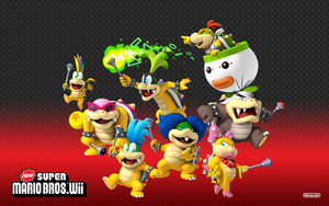 New Super Mario Bros. Wii Koopaling Background