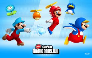 New Super Mario Bros. Wii Power-ups Background