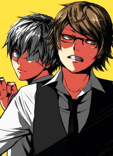 tokyo ghoul fondo de pantalla containing anime called Nishiki and Kaneki