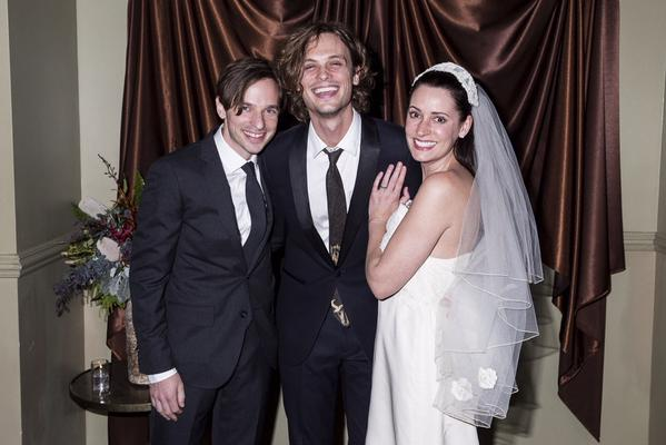 Paget Brewster, Steve Damstra and Matthew Gray Gubler
