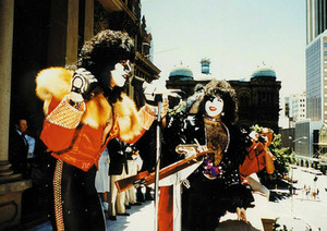 Paul Stanley and Eric Carr 1980