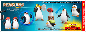 Penguins Movie Happy Meal Toys