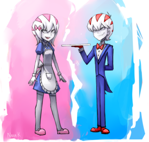 Peppermint Butler and Peppermint Maid, Human versions