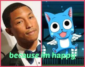 Pharell and happy collage