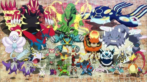 Pokémon achtergrond entitled Pokémon ORAS Mega evolutions