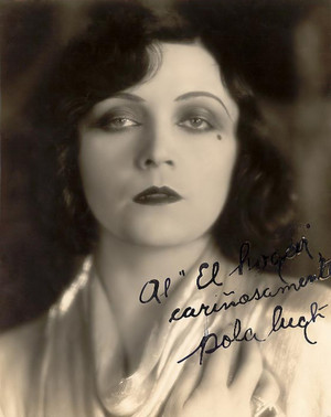 Pola Negri - Signed 사진