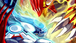 Primal Groudon and Kyogre wallpaper