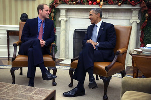 Prince William Meets with Barack Obama