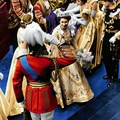 queen Elizabeth II arrives at Westminster Abbey in the Coronation