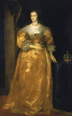 皇后乐队 Henrietta Maria of France, 皇后乐队 of England and Scotland