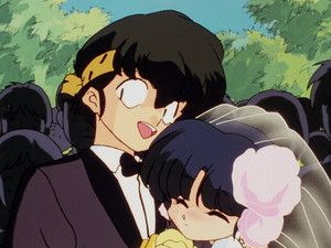 RANMA'S NIGHTMARE OF WATCHING AKANE (the girls he loves) MARRY RYOGA (his rival)