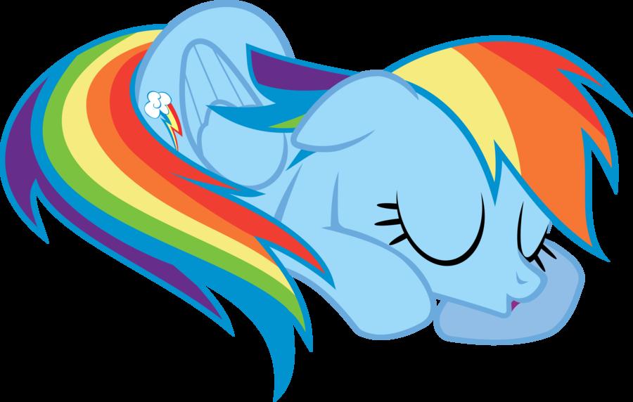 Rainbow Dash Is Sleeping