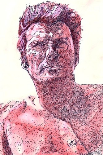 """Clint Eastwood wolpeyper probably with a portrait entitled Rawhide """"Rowdy Yates"""""""