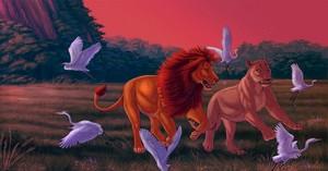 Realistic Simba and Nala