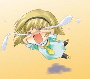 Satoko triste porque hay pocas fotos suyas en su peminat page