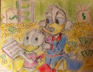 Scrooge and Webby