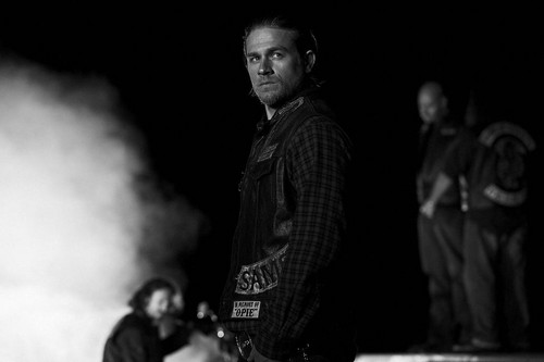 Sons Of Anarchy wallpaper possibly with a smoke screen called Season 7 - Jax Teller