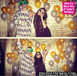 Selena Gomez at Taylor Swift's Birthday Party.