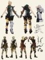 Sera concept art in The Art of Dragon Age: Inquisition