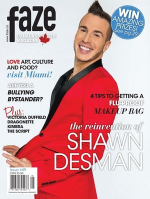 "Shawn Desman on Front Cover ""Faze Magazine"""