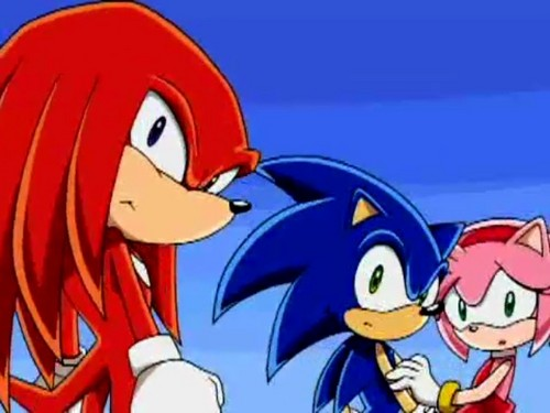 Sonic the Hedgehog wallpaper containing Anime titled SonAmy in background of Sonic X