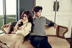 Song Jae Rim and Kim So Eun For Allure Korea's December 2014 Issue