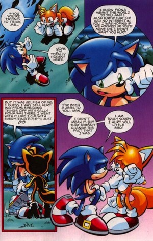 Sonic has to tell tails