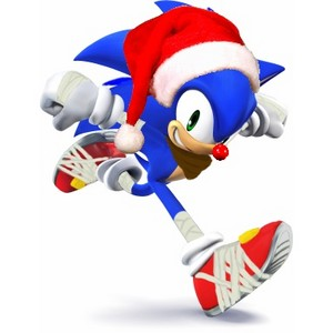 Sonic, the red nose hedgehog.