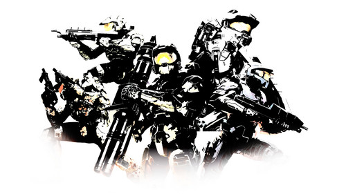 Halo wallpaper titled Spartan Squad