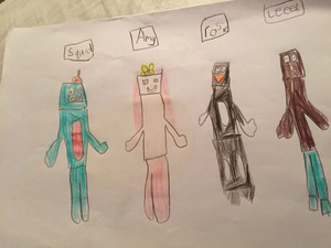 Squid, Amy, Rosie and Lee - Stampylongnose
