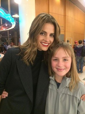 Stana and a fan(December,2014)